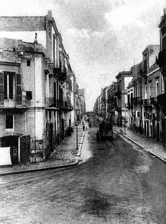 Tram in via Piccinni nel 1912