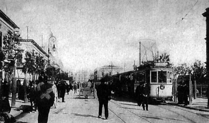 Tram in corso Cavour nel 1916