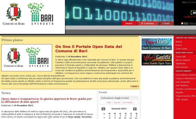 Il portale open data del sito del Comune