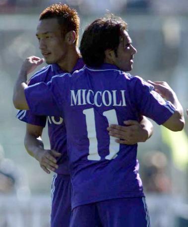 Con la maglia della Fiorentina