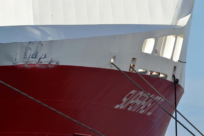 Collisione tra Nave Superfast e Nave da Crociera Mein Shiff 2 al porto di Bari