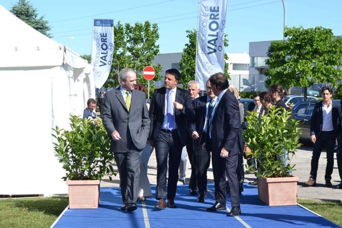 Matteo Renzi presidente del Consiglio alla azienda Merck Serono