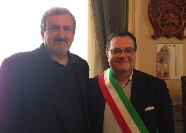 Con il sindaco Francesco Miglio