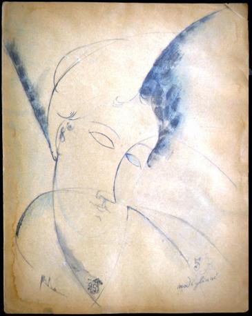 Ritratto di Beatrice Hastings (1915), inch. e temp. su cartoncino