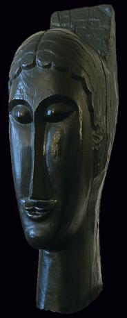 Bronze d'aprés Modigliani Testa (1911)