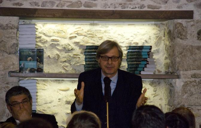 Vittorio Sgarbi e il sindaco di Taormina Mauro Passalacqua