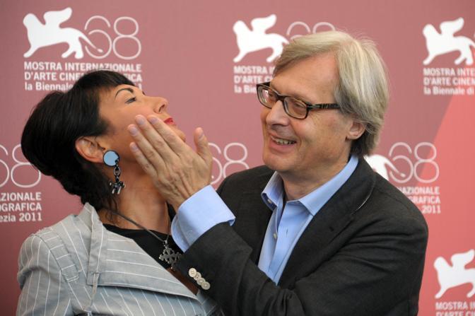 Vittorio Sgarbi e la regista Elisabetta Sgarbi