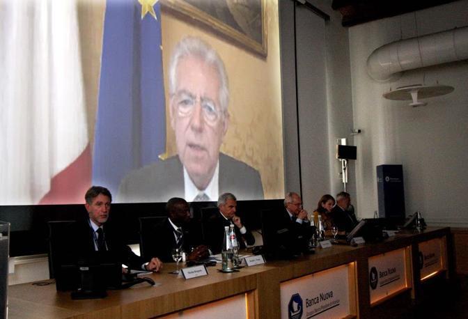 Alla presentazione del progetto è intervenuto, in videoconferenza, anche il premier Mario Monti