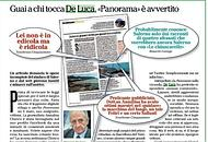 Panorama, nuovo affondo su De Luca