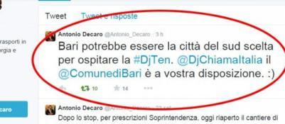 """""""Organizzate la Dj Ten a Bari"""". La maratonadi Radio Deejay in Puglia a furor di popolo"""