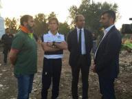 Il team manager della Nazionale rende omaggio alle vittime di Andria