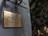 Una targa in ricordo della giornalista Francesca Pilla