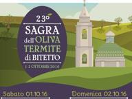 Bitetto, Sagra dell'Oliva Termite Nel weekend la 23esima edizione