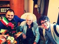 La signora Cosima compie 105 anni Nardò la festeggia, il sindaco a casa