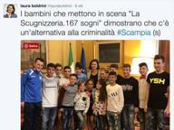 """""""La Scugnizzeria"""", i bimbi di Scampia vanno in scena alla Camera"""