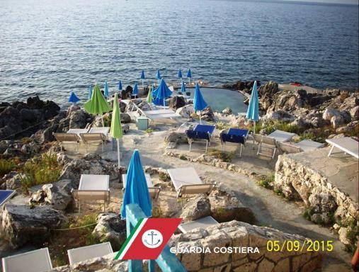 Castro sigilli ad un lido abusivo acqua dal mare per la piscina - Mare in tavola foggia ...